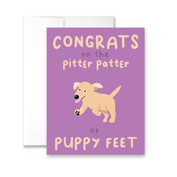 Congrats On The Pitter Patter of Puppy Feet - Package of Six Greeting Cards