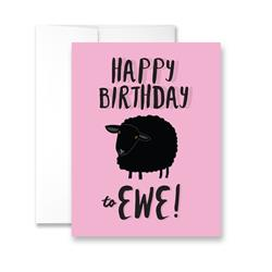 Happy Birthday To Ewe (Sheep) - Package of Six Greeting Cards