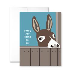 Sorry For Being An Ass - Package of Six Greeting Cards