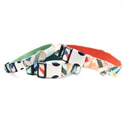 'Lolli' Geometric Canvas Dog Collar