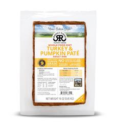 Raised Right Turkey & Pumpkin Paté Adult Dog Recipe, 1 lb Tray