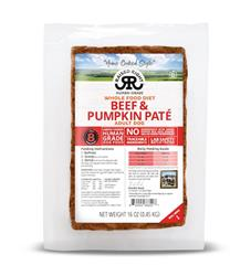 Raised Right Beef & Pumpkin Paté Adult Dog Recipe, 1 lb Tray