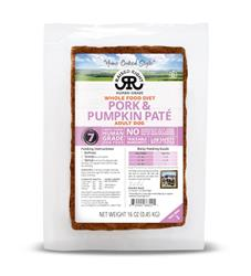 Raised Right Pork & Pumpkin Paté Adult Dog Recipe, 1 lb Tray