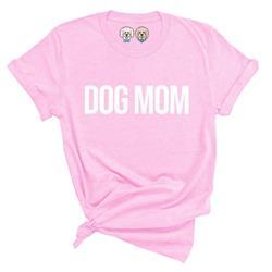 DOG MOM - BUBBLEGUM PINK TSHIRT