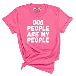 DOG PEOPLE ARE MY PEOPLE - PINK TSHIRT