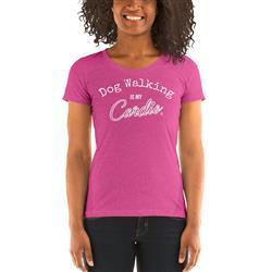 Dog Walking Is My Cardio Women's Scoop Neck T-Shirt