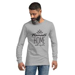 Namaste Home With My Cat Long Sleeve T-Shirt