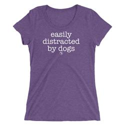 Easily Distracted By Dogs Women's Scoop Neck T-Shirt