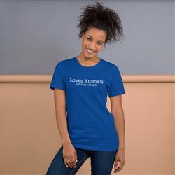 Loves Animals, Tolerates People Unisex T-Shirt