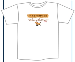 Walks With Poop T-Shirt