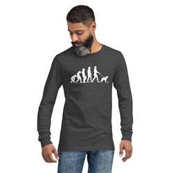Evolution of Dog Walking Long Sleeve T-Shirt