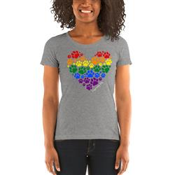 Pride Paws Heart Women's Scoop Neck T-Shirt