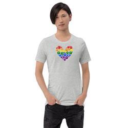Pride Paws Heart Unisex T-Shirt
