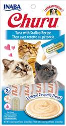 Churu Purees - Tuna With Scallop Recipe - 2 Oz (0.5 Oz X 4T)