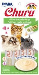Churu Purees - Chicken With Scallop Recipe - 2 Oz (0.5 Oz X 4T)