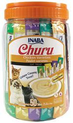 Churu Purée Churu Chicken Varieties 50 Tubes - 25 Oz (0.5 Oz X 50T)