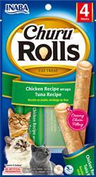 Churu Rolls - Chicken Recipe Wraps Tuna Recipe - 1.4 Oz (0.35 Oz X 4T)