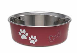 Loving Pets Bella Bowl Pet Water Bowl - Merlot