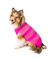 Alpaca Pink on Pink Dog Sweater