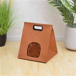 PREORDER-Petpals, Icon Pumpkin Orange Felt Cat Bed With Cushion