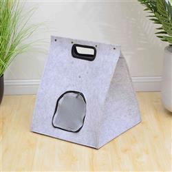 PREORDER-Petpals, Icon Cloud Grey Felt Cat Bed With Cushion