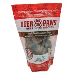 Peanut Butter Beer Biscuits for Dogs, 6oz. Pouches
