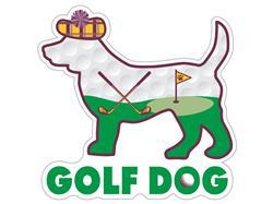 """Golf  Dog - 3"""" Sticker"""
