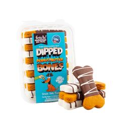 "10 Pack of Dipped Peanut Butter Bone Cookies - 3.25"""