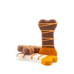 """Autumn Dipped Peanut Butter Bone Cookie - 3.25"""""""
