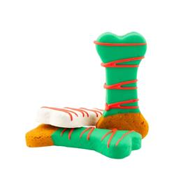 """Christmas Dipped Peanut Butter Bone Cookie - 3.25"""""""