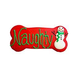 "Naughty 6"" Bone Shape Dog Cookie"