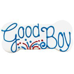 "Pawtriotic Good Boy 6"" Bone Shape Dog Cookie"