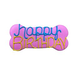 "Happy Birthday 6"" Bone Shape Dog Cookie"