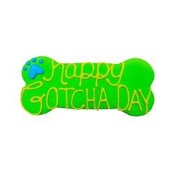 """Happy Gotcha Day 6"""" Bone Shape Dog Cookie"""