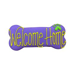 "Welcome Home 6"" Bone Shape Dog Cookie"