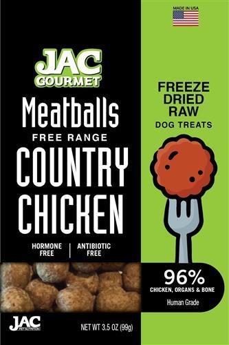 JAC Chicken Meatball Treats Freeze Dried