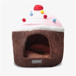 CHOCOLATE CUPCAKE SHAPE MICRO-PLUSH PET BED