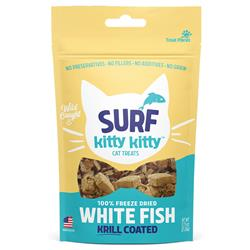 Kitty Kitty Surf Freeze Dried White Fish Treat with Krill Coating .6oz