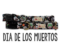 Dia De Los Muertos – Organic Cotton Collars & Leashes