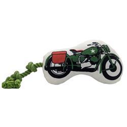 Military Motorcycle Plush Dog Toy