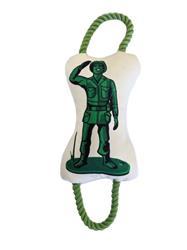 Military Figure Plush Dog Toy