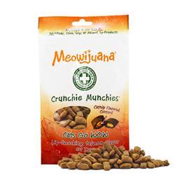 Meowijuana® - Crunchie Munchie - Salmon Treats - Case Pack - 8/Case