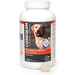 Cosequin DS PLUS MSM Maximum Strength Chewable Tablets (132 Count)