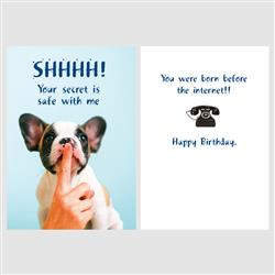 Birthday -SHHH! Your secret is safe with me