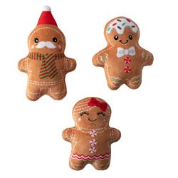 Gingerbread Everything Small Plush Dog Toys - Set Of 3