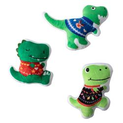 Sweater Weather Rexs Small Plush Dog Toys - Set Of 3