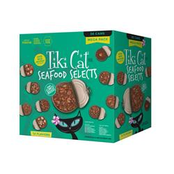 Tiki Pet Cat Fish Favorites 2.8 Oz /3 Oz Mega Variety Pack