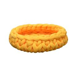 PREORDER-Petpals, Cloudscape Yellow Hand Weaved Cat Bed