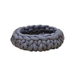 PREORDER-Petpals, Cloudscape Gray Hand Weaved Cat Bed