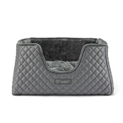NANDOG PRIVE COLLECTION QUILTED VEGAN LEATHER DARK GRAY CUBE BED